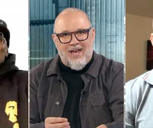 Francy Ntetu et David Lemieux se sont livré une guerre de mots, mercredi, lors de l'émission de Jean-Charles Lajoie.