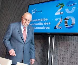 Le grand patron de Transat, Jean-Marc Eustache, lors de la plus récente assemblée annuelle du voyagiste, en mars dernier, peu après le début de la pandémie.