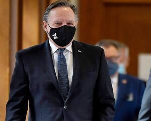 Le premier ministre François Legault et le ministre de la Santé Christian Dubé, le mois dernier, à Québec, quelques instants avant un point de presse au sujet de la pandémie.