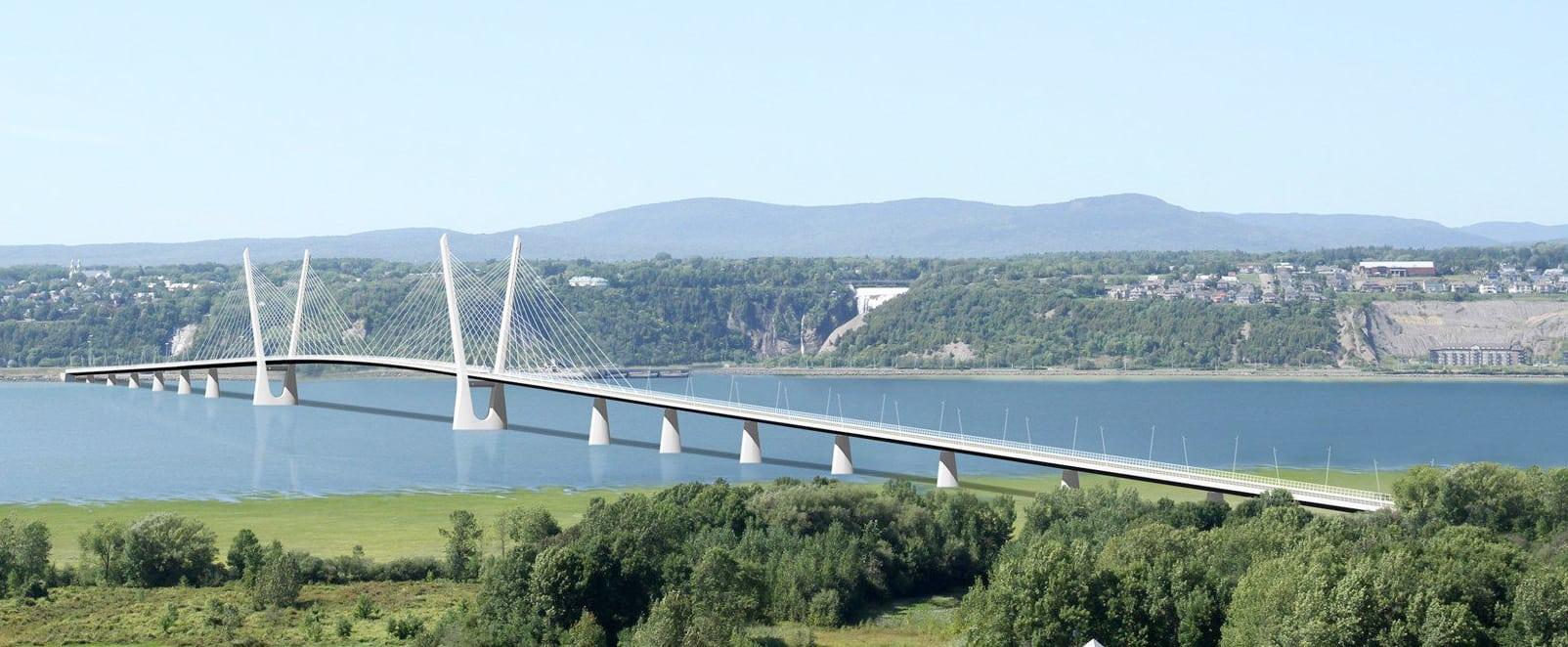 Le nouveau pont de l'île d'Orléans en 2027