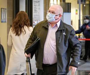 L'ex-conseiller Mario Fauteux, photographié lundi, a été très émotif mardi matin au palais de justice de Saint-Jérôme, au procès du maire Stéphane Maher.