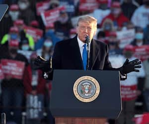 US-PRESIDENT-TRUMP-HOLDS-CAMPAIGN-RALLY-IN-WEST-SALEM,-WISCONSIN
