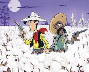 <b><i>UN COW-BOY DANS LE COTON</i></b><br/> Jul, Achdé<br/> Éditions Lucky Comics