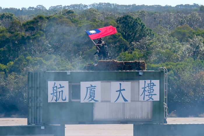 Un soldat taïwanais lors d'un entraînement à la base militaire de Hsinchu, le 18 janvier dernier.