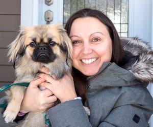 Josée Samson etson chien Toby, un shih tzupékinois, son «réconfort sur quatre pattes».