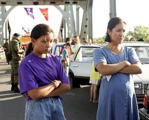 Une scène du film <i>Beans</i>, qui relate la crise d'Oka à travers les yeux d'une jeune fille de 12ans.