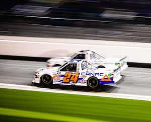 Raphaël Lessard avait participé à l'épreuve de Camionnettes NASCAR, à Daytona, en Floride, en février dernier.