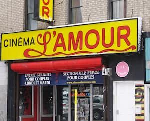 GEN-Devanture du Cinéma L'Amour à Montréal