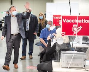 François Legault a reçu sa dose de Pfizer-BioNTech hier après-midi à Montréal.