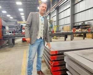 Le vice-président et actionnaire d'Acier Picard, Marc-André Dion, dans son entrepôt de Varennes la semaine dernière.