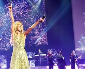 Céline Dion lors de son dernier spectacle sur la scène du Colosseum le 8 juin 2019.