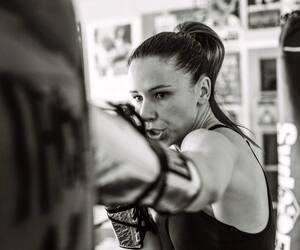 Mandy Bujold en action lors d'un entraînement.