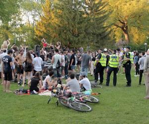 Rassemblement au parc Victoria, à Québec