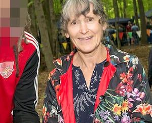 La mairesse de Brownsburg-Chatham, Catherine Trickey, lors d'une fête organisée par la municipalité en septembre 2019.
