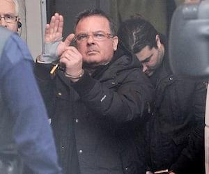 Raynald Desjardins, qu'on voit ici alors qu'il était escorté au palais de justice de Joliette en décembre 2011.