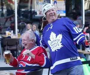 GEN-Vox-Pop sur la 6 ème joute d'hockey entre les Maple Leafs de Toronto et Les Canadiens de Montréal.