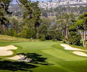 Le trou no 3 du Lake Course de l'Olympic Club, à San Francisco.