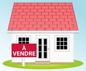 Maison à vendre. Illustration vectorielle immobilier.