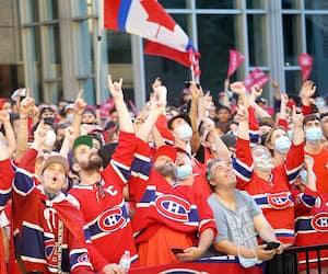 SPO-Réaction des amateurs du Canadiens de Montréal en séries éliminatoires contre les Golden Knights de Las Vegas à Montréal