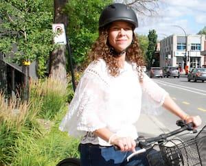 Carolina Tremblay a retrouvé deux des trois vélos qu'elle s'était fait voler.