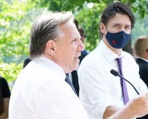 GEN-Conférence de presse du Premier Ministre François Legault et de Justin Trudeau à Montréal