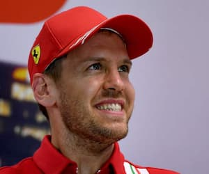 Le pilote Sebastian Vettel