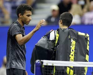 Félix Auger-Aliassime, 21ans, avait les allures d'un «vétéran» face au jeune Carlos Alcaraz, 18ans, mardi soir.