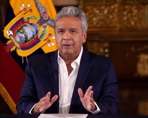 L'actuel président sortant de l'Équateur, Lenín Moreno, en avril 2020.