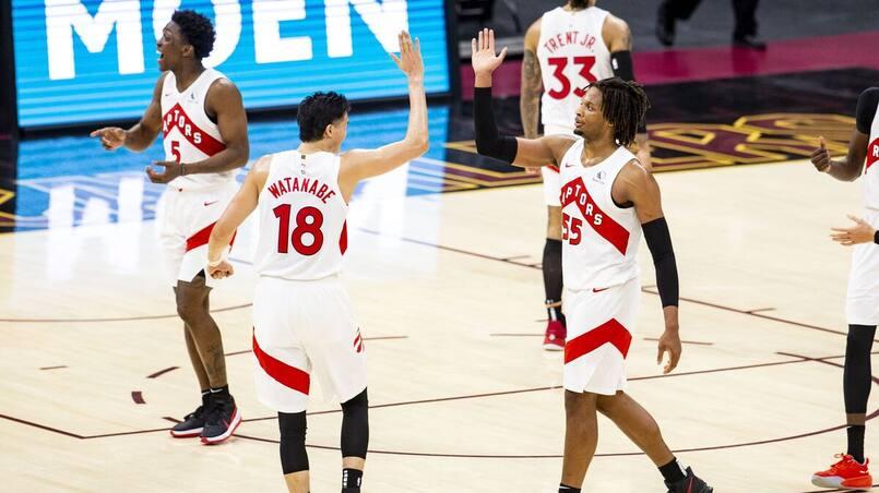 Les Raptors marquent 87 points en une demie