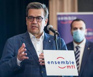 Le candidat à la mairie de Montréal Denis Coderre