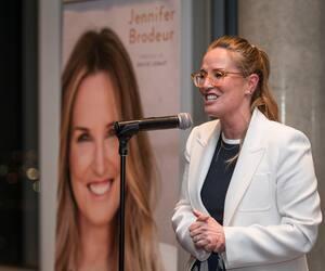 Lancement du livre «La peau et ses secrets: la comprendre, la protéger» de Jennifer Brodeur, au siège Social de Québecor, à Montréal, mercredi le 5 février 2020.