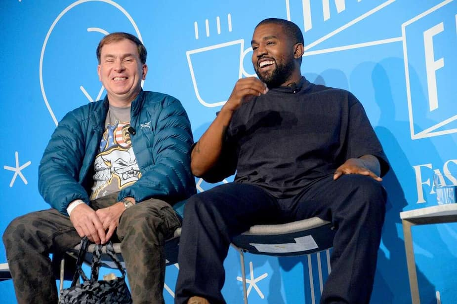 Steven Smith et Kanye West sur scène au Fast Company Innovation Festival, à New York, le jeudi 7 novembre 2019.