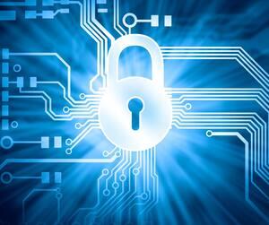 Bloc Ordinateur web sécurité internet renseignements personnels