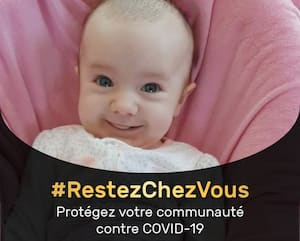 Le père de famille, Daniel Grenier, a publié une photo de sa fillette atteinte du coronavirus pour inciter les Québécois à respecter les directives de la santé publique.