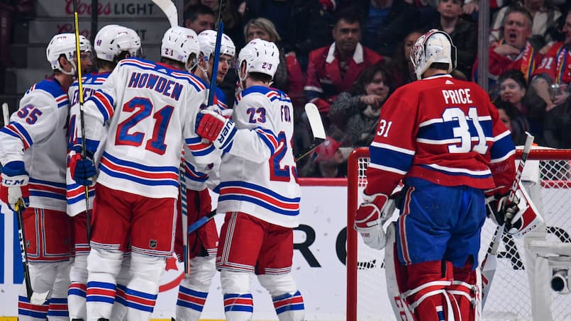 Rangers c. Canadiens