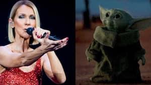 Image principale de l'article Céline Dion partage un meme de bébé Yoda