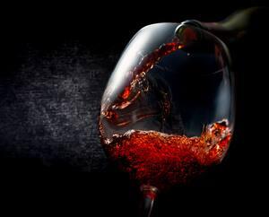 Wine on textured black
