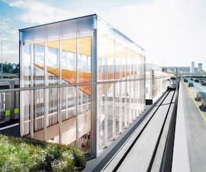 Le manufacturier Prelco était sur les rangs pour fabriquer les grands panneaux de verre des stations du Réseau express métropolitain (REM).