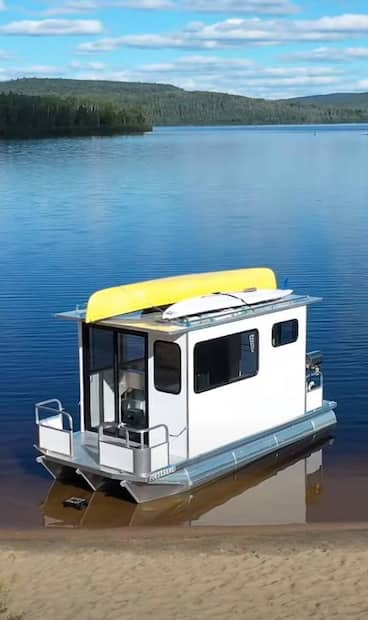 Image principale de l'article Une «roulotte flottante» à louer au Lac Taureau