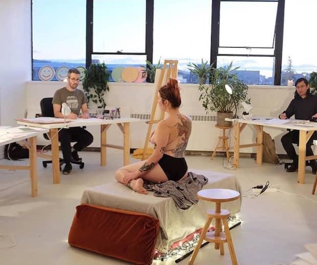 Image principale de l'article Une expo d'œuvres de modèles nus ce week-end