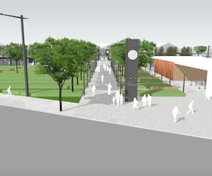 La Ville de Québec a procédé à d'importantes annonces concernant le pôle d'échanges de Saint-Roch (sur l'illustration) et la transformation du quartier.