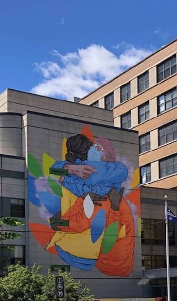 Image principale de l'article Une murale pour les travailleurs de la santé