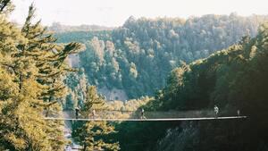 Image principale de l'article Visitez le canyon Sainte-Anne l'automne!