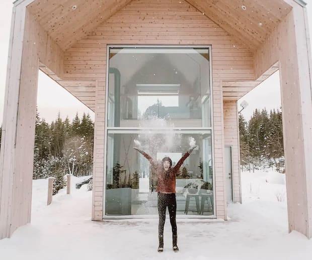 Image principale de l'article Une mini-chalet féérique à louer cet hiver