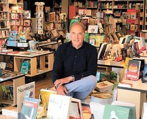 Ghislain Chouinard, propriétaire et libraire de la Librairie Chouinard de Charny.
