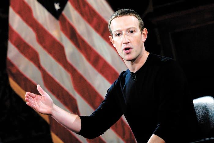 Le PDG de Facebook, Mark Zuckerberg, lors d'une «Conversation sur la liberté d'expression» qui s'est tenue à l'université de Georgetown, Washington, en octobre 2019.