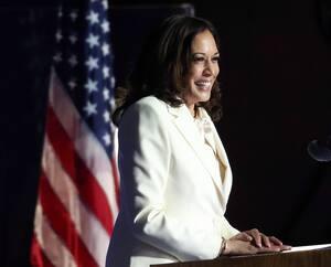 Kamala Harris a livré hier un premier discours comme vice-présidente élue.