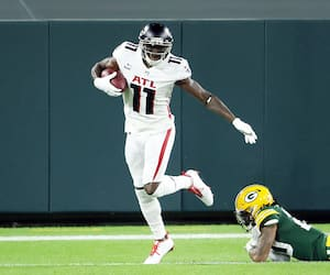 Le receveur des Falcons d'Atlanta Julio Jones.