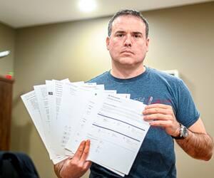 Alexandre Fortin, le président d'Entreprises L.M. de Montréal, n'en revient pas qu'Air Canada lui ait permis d'utiliser à peine 47 $ de son crédit de vol émis le printemps dernier.