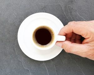Prendre une tasse de café noir... carte menu bannière